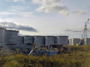 Water storage tanks at Fukushima (Photo: IAEA Imagebank)