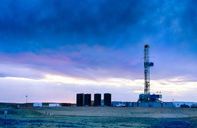 Fracking rig.content