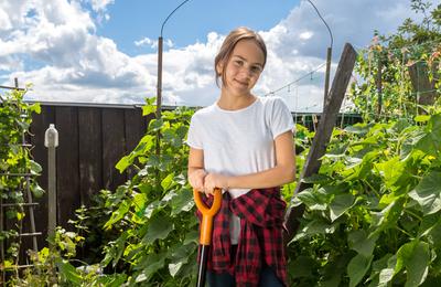 Teen gardener.content